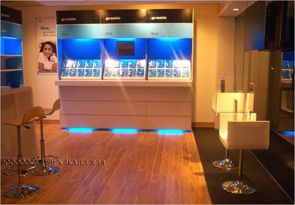 stylised company store uninor showroom view2