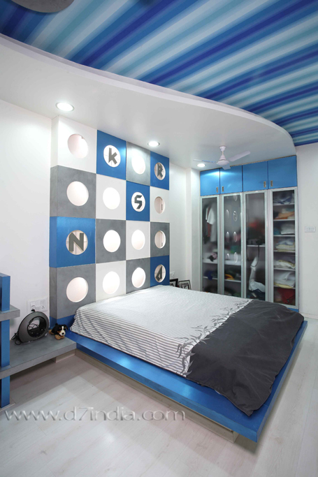 contemporary bungalow rajen daswani creative bedroom sideview